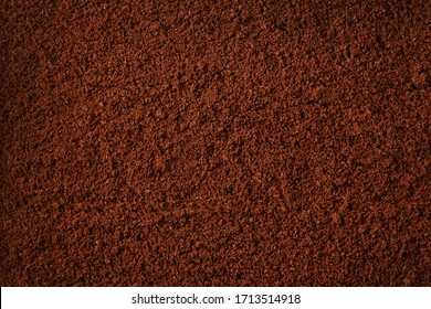 Coffee grind texture background , banner, closeup