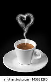coffee with heart smoke