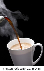Coffee, hot coffee, pour