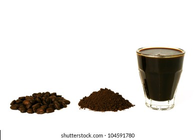 Coffee - isolated on white background