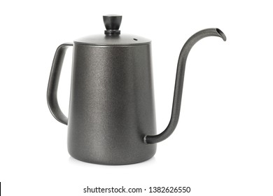 Coffee kettle isolated on white background. Tea kettle with handle. ( Clipping path )