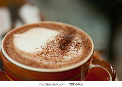 Coffee Latte in a red cup