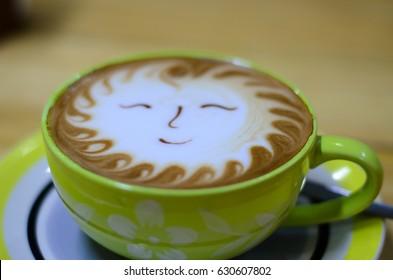 coffee latte sun smile
