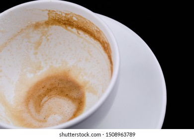 Coffee Latte in White Mug with Bubble