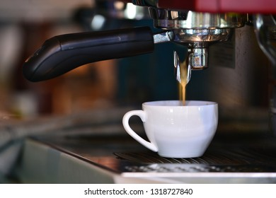 Coffee machine, close up