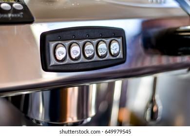 Coffee machine in the coffee house