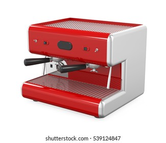 Coffee Machine Isolated. 3D rendering