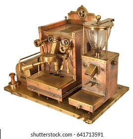 Coffee machine old style steampunk