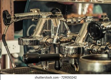 Coffee machine tone vintage background