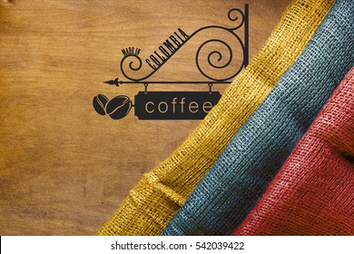 Coffee - the main industrial product Colombia. The poster for the production of Colombian coffee.
