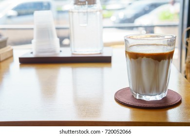 coffee menu called 'dirty' comprise of espresso short shot with coffee oil and fresh milk