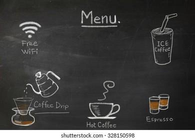 CAFE COFFEE POSTER A4 A3 Espresso Advertising Chalk Board Latte Americano Mocha
