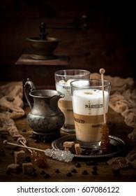 Coffee with milk italian style, caffelatte