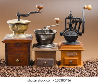 coffee mills with coffee beans