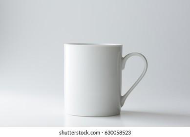 Coffee Mug Mockup isolated on light grey background.