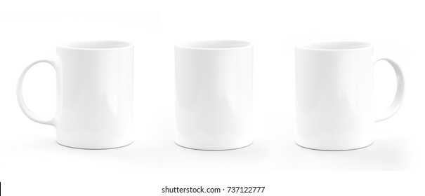 Coffee mug white. Mug empty mock-up