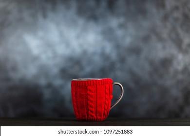 Coffee mug in a wool cover