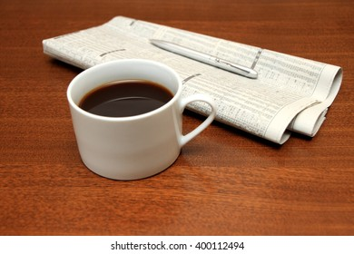 coffee and news paper