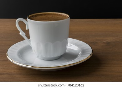 coffee on brown background