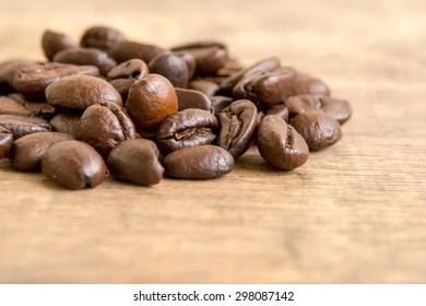 Coffee on grunge wooden - Shutterstock ID 298087142