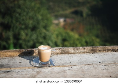 coffee on table in the morning