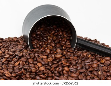 Coffee on the white background