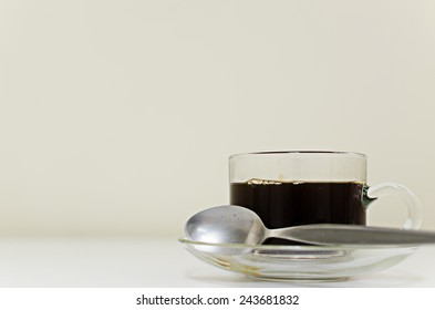 coffee on white table