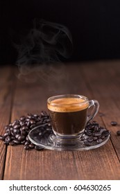 coffee on the wooden background, coffee background concept