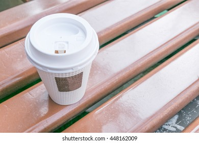 Coffee paper cup with heat protect texture