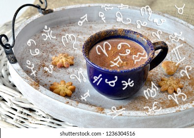 Coffee pause and zodiac signs