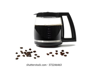 Coffee Pot on White Background
