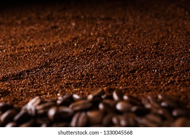 coffee powder and coffee beans