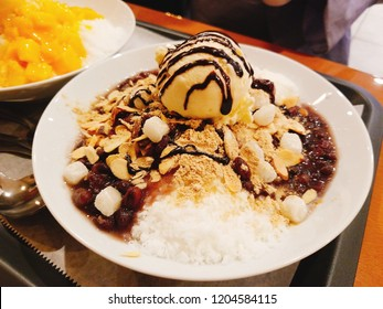 Coffee Red Bean Rice Cake Ice Cream Hawaiian Bingsoo