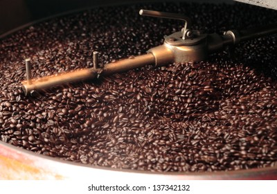 Coffee roaster / coffee beans background