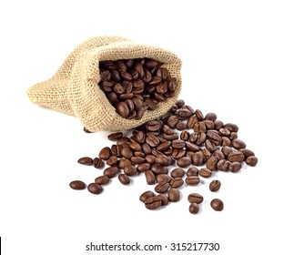 coffee sack on white background