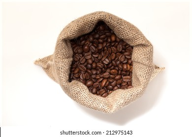 Coffee sack from the top