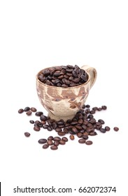 coffee seeds with cup