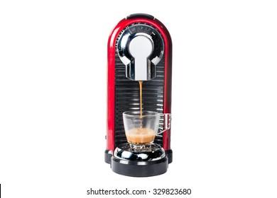 Coffee series: Coffee machine isolated