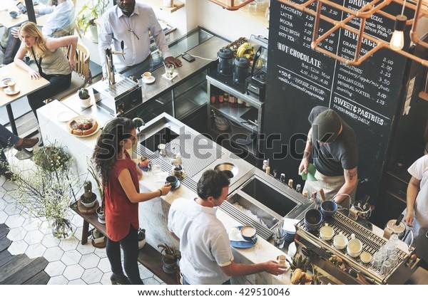 Café Bar Comptoir Café Restaurant Relaxation Concept