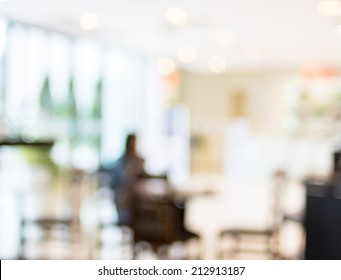 Coffee shop blur background with bokeh