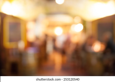 Coffee shop and restaurant blurred background