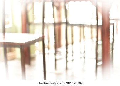 Coffee shop soft blurred background.