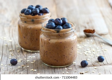Coffee Smoothie with Blueberries