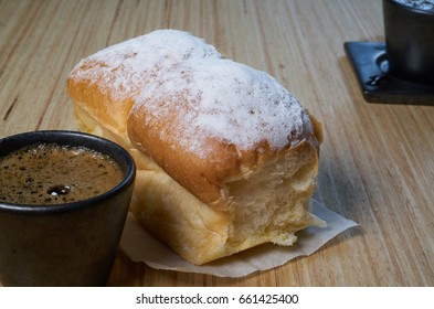 coffee with soft butter buns