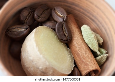 Coffee with Spices in a bowl