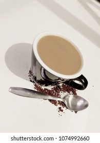 coffee with spoon
