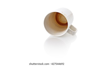 Coffee Stain in white cup