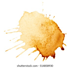 Coffee stains isolated on white background - Shutterstock ID 514858930