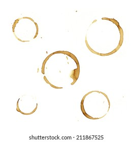 Coffee stains on plain paper