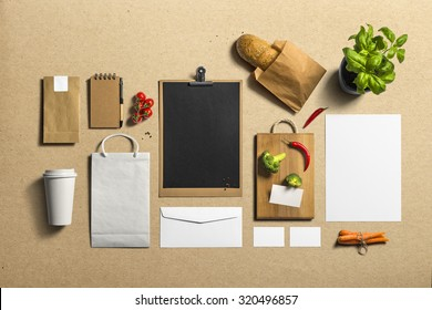 Coffee Stationery, Branding Mock-up, with clipping path, isolated, changeable cardboard background
